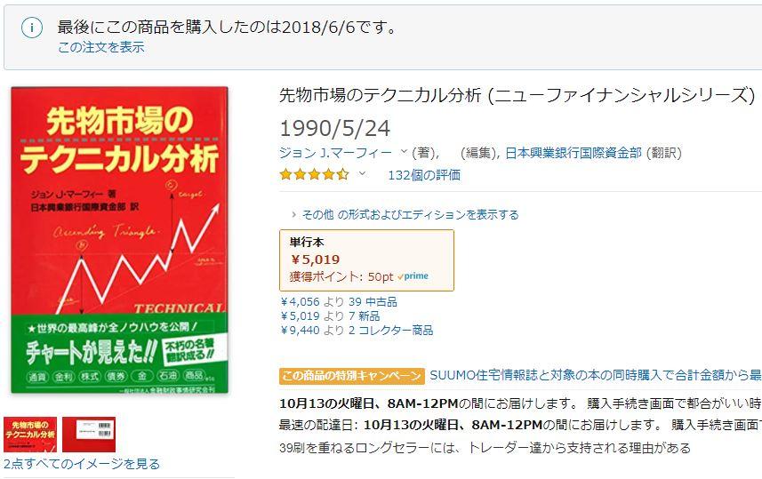 【おすすめ本その2】先物市場のテクニカル分析